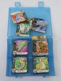 Colectie cartonase magnetice Pokemon - lot 130 bucati in cutie de depozitare