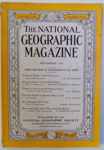 THE NATIONAL GEOGRAPHIC MAGAZINE , VOLUME LXX - NUMBER FIVE - NOVEMBER , 1936 foto mare