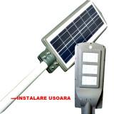 OFERTA! STALP SOLAR EXTERIOR 40 WATT,PANOUL SOLAR SI ACUMULATOR INCLUS,SENZOR.