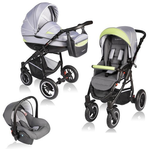Carucior Crooner 3 in 1 Green Gray foto mare