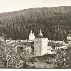 Carte postala(ilustrata)-NEAMT-Manastirea Secu, Circulata, Fotografie