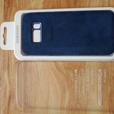 Vand husa Samsung originala Galaxy S8 Plus, Alcantara, blue la 100lei - Husa Telefon Samsung, Samsung Galaxy S8 Plus, Albastru, Piele, Fara snur