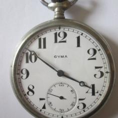 Ceas de buzunar elvetian marca Cyma din anii 20 nefunctional