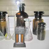 Set 10 sticle Farmacie maro si transparente stare buna.