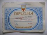 Diploma sportiva Daciada 1989