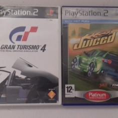 LOT 2 jocuri: Gran Turismo 4 + Juiced - PS 2 [Second hand] - Jocuri PS2, Curse auto-moto, 12+, Multiplayer