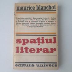 Spatiul literar/Maurice Blanchot/limba romana/1980