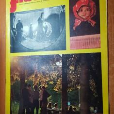 Revista flacara 7 iunie 1975-art. si foto despre orasul barlad,cenaclul flacara