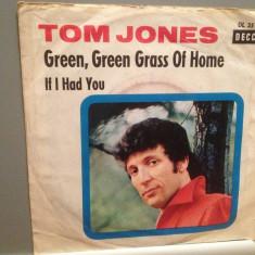 TOM JONES - GREEN, GREEN GRASS OF HOME (1968/DECCA/RFG) - VINIL Single/ - Muzica Pop decca classics