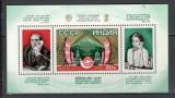 U.R.S.S.1981 Convorbire prin satelit URSS-India-Bl.  CU.1129, Nestampilat