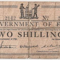 Fiji 2 Shillings 1942 U