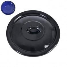 Capac emailat negru-diametru 24 cm - Plita pe gaz