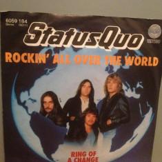STATUS QUO - ROCKIN'ALL OVER THE WORLD (1978/POLYDOR/W.Germany) - VINIL Single/ - Muzica Rock Phonogram rec