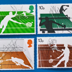 Anglia, 1977, sport, tenis, serie mnh - Timbre straine, Stampilat