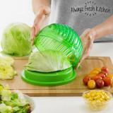 Aparat de spalat; uscat si taiat salata