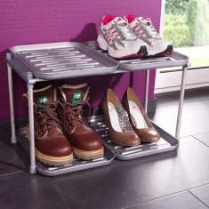 Suport pentru pantofi cu 4 tavi pentru colectarea umezelii