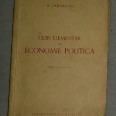 Curs elementar de economie politica / de B. Zaharescu - Carte Economie Politica