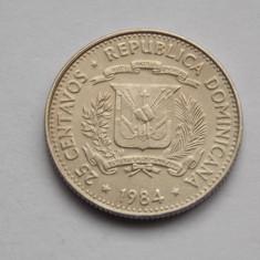 25 CENTAVOS 1984 REPUBLICA DOMINICANA, America Centrala si de Sud