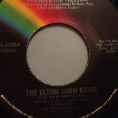 ELTON JOHN BAND - PHILADELPHIA FREEDOM (1975/MCA/USA) -  VINIL Single
