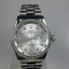 Ceas Rolex Oyster argintiu dama NOU elegant metalic - Ceas dama, Casual, Quartz, Otel, Metal necunoscut