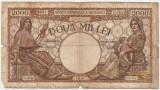 ROMANIA 2000 LEI 2 MAI 1944 FILIGRAN BNR U