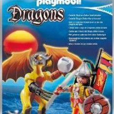 Figurina Dragonul pietrei cu luptator, Playmobil - Figurina Povesti