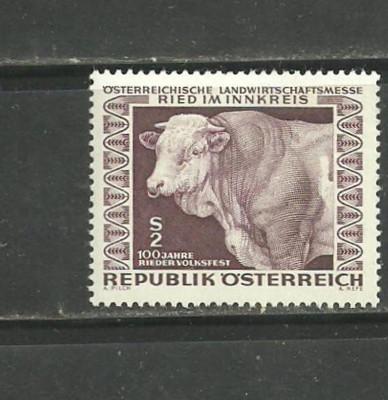 Austria 1967 – VACA DE RASA, timbru nestampilat  V69 foto