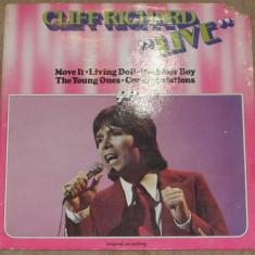 Vinyl/vinil Cliff Richard – Live, Gatefold, Belgium 1976, dsic VG - Muzica Reggae