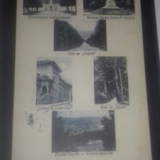 Ramnicu Valcea mozaic multipla colaj 1930 - Carte Postala Muntenia dupa 1918, Circulata, Fotografie