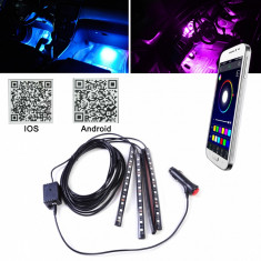Lumina interior 4 benzi APP Control cu muzica de control 18LED, Universal