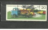GERMANIA DEMOCRATA - AUTOBASCULANTA, timbru stampilat AVION, N58