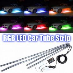 Lumina 4 benzi RGB LED Strip sub masina tub 90 * 120cm, Universal