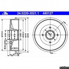 TAMBUR FRANA FARA ABS Logan/Sandero D=203 ATE 24.0220-3021.1