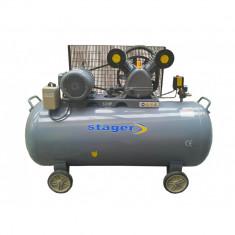 Compresor aer HM-V-0.6/370L, Rezervor 370 L, Presiune 8 Bar, Debit aer 600l/m - Compresor Service