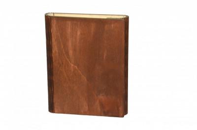 Notes A5 agenda cu copertă din lemn tăietură elastică-jurnal Handmade foto