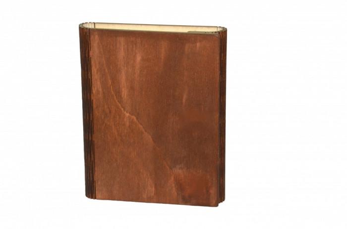Notes A5 agenda cu copertă din lemn tăietură elastică-jurnal Handmade