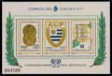 URUGUAY 1978 CAMPIONATUL MONDIAL DE FOTBAL COTA MICHEL 50 EURO, Nestampilat