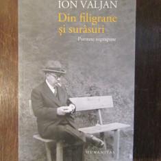 DIN FILIGRANE SI SURASURI , PORTRETE SUPRAPUSE de ION VALJAN, Humanitas