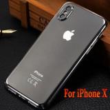 Husa iPhone X Slim Transparenta, Transparent, Plastic, Apple