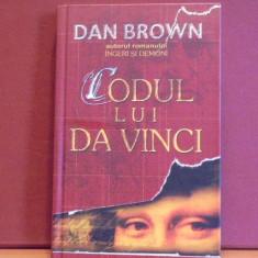 DAN BROWN- CODUL LUI DA VINCI - CARTONAT- ED. BIBLIOTECA RAO, 2004 - 476 PAG. - Roman