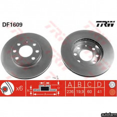 DISC FRANA NEVENTILAT FATA 238X12 (14``) LoganSandero TRW DF1013