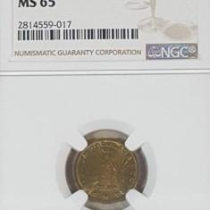 NGC 1 leu 1950 MS 65 - Moneda Romania, Alama