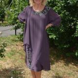 Rochie (Culoare: MOV, Marime: 54) - Rochie de seara