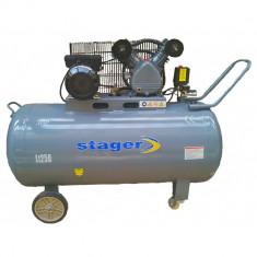 Compresor aer Stager HM-V-0.25/250, Rezervor 250L, Presiune 8 bar, 3CP