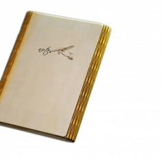 Notes A5 cu coperta din lemn agendă jurnal notebook handmade