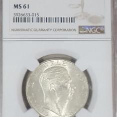 NGC 250 lei 1940 MS 61 - Moneda Romania, Argint