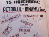 Carte fotbal cu autografe de colectie jucatori-DINAMO BUCURESTI (1970)
