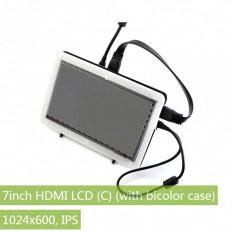 LCD (C) 7'' HDMI cu Carcasă Bicoloră - Monitor touchscreen