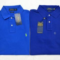 Tricou POLO Ralph Lauren M, L | Colectie noua | 2 culori - Tricou barbati Ralph Lauren, Culoare: Albastru, Maneca scurta, Bumbac