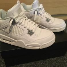 Vand adidasi-mid Nike Air Jordan 4 Retro BG - Adidasi barbati Nike, Marime: 38.5, Culoare: Alb